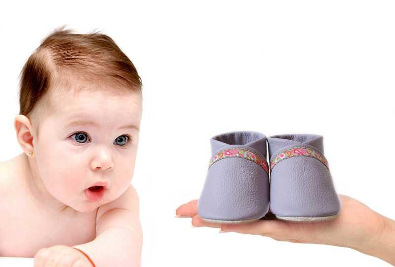 Babyschuhe Krabbelschuhe aus Leder