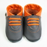 Sneaker in 2farbig grau-orange