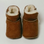 Booties in camel