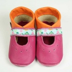 Krabbelschuhe Ballerinas pink-orange